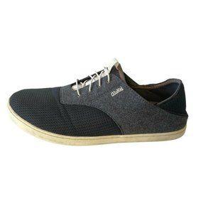 Olukai Nohea Moku Dark Shadow Shoes Bluish Gray